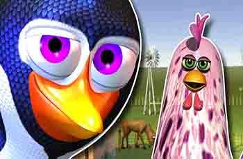 Canciones infantiles El Pingüino y la Gallina Granja 3